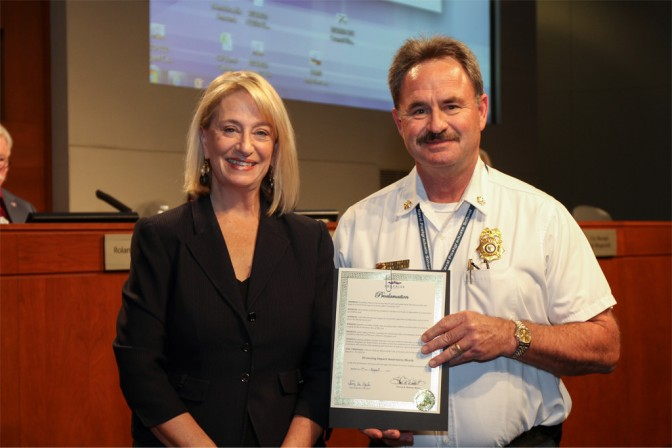 Mayor Wolcott PProclaiming August as drowning imact awareness month