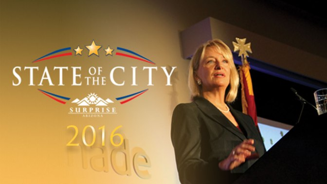 Surprise State of the City 2016 banner