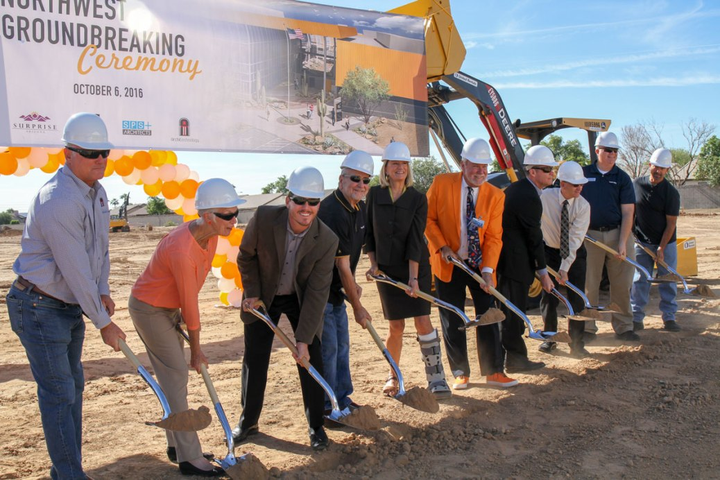 Guests breaking ground